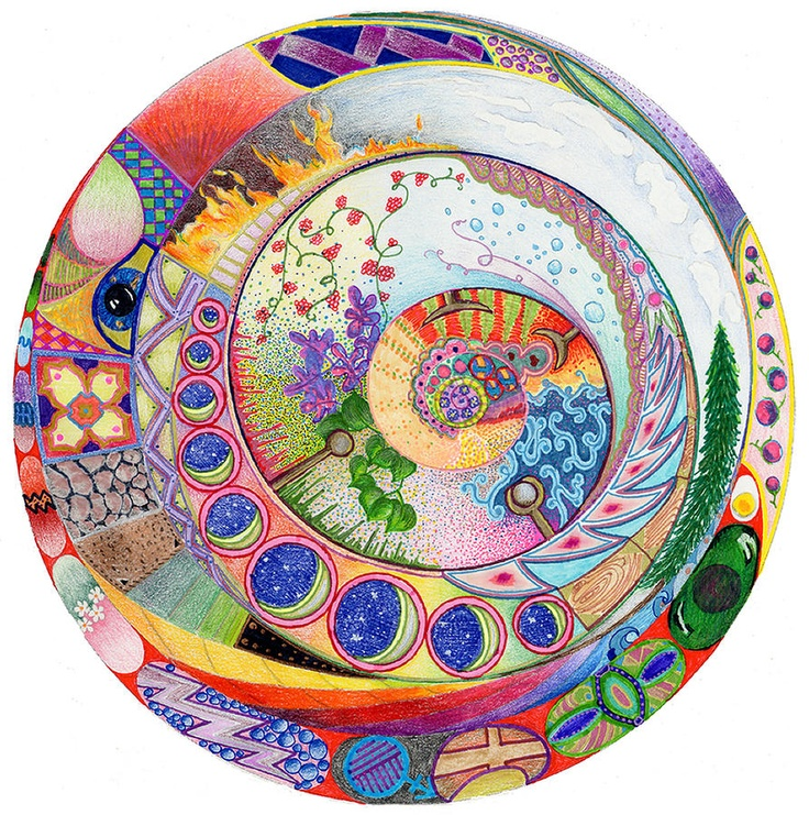 965 best images about life on the magical path on for Mural mandala