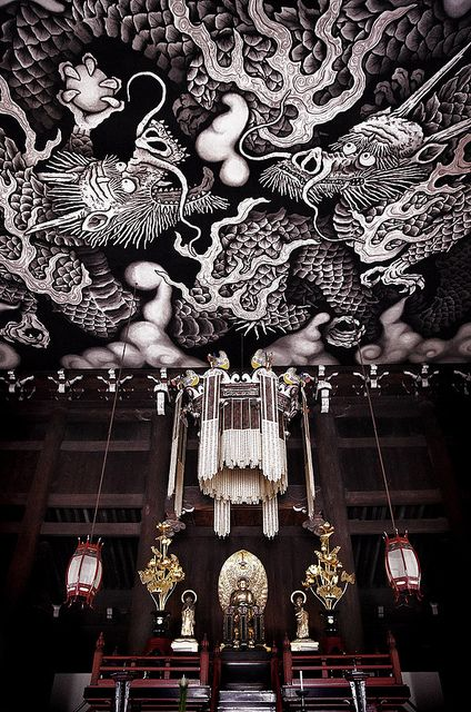 Twin dragons, Kennin-ji - #Zen-Temple, Kyoto, #Japan
