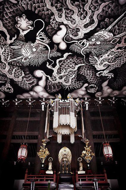 Twin dragons, Kennin-ji - Zen-Temple, Kyoto, Japan