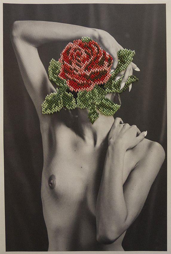 Needlepoint flower.