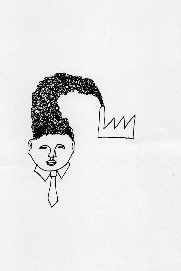 Ur Eric Ericsons bok Till vederbörande.     Till vederbörande är en annorlunda pocketbok innehållande teckningar, korta historier, sagor och reflektioner kring samhället och världen vi lever i. I förordet kallar Carl Johan de Geer boken för Kafkas pysselbok.    http://www.orosdi-back.com/shop/en_bok/64