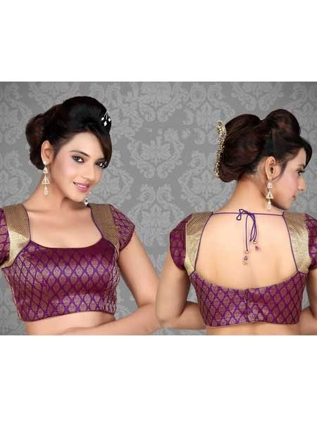 Nice looking Purple Saree Blouse