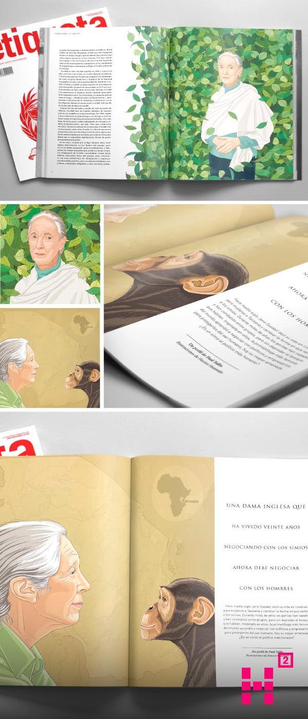#Ilustración de #JanneGoodall para la edición N. 16 de la #revista Etiqueta Verde.