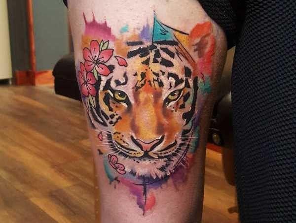 Tatuaż Tygrys Znaczenie Historia 40 Zdjęć Watercolor