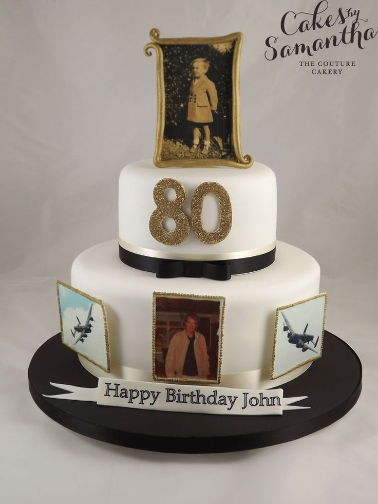 80th birthday cakes for women designs | Below is a selection of designs to be used as a guide or inspiration ...