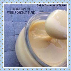 Crème dessert façon danette voire meilleure ..Chocolat  blanc et vanille, (sans gluten) Thermomix, companion, Cook in ou casserole