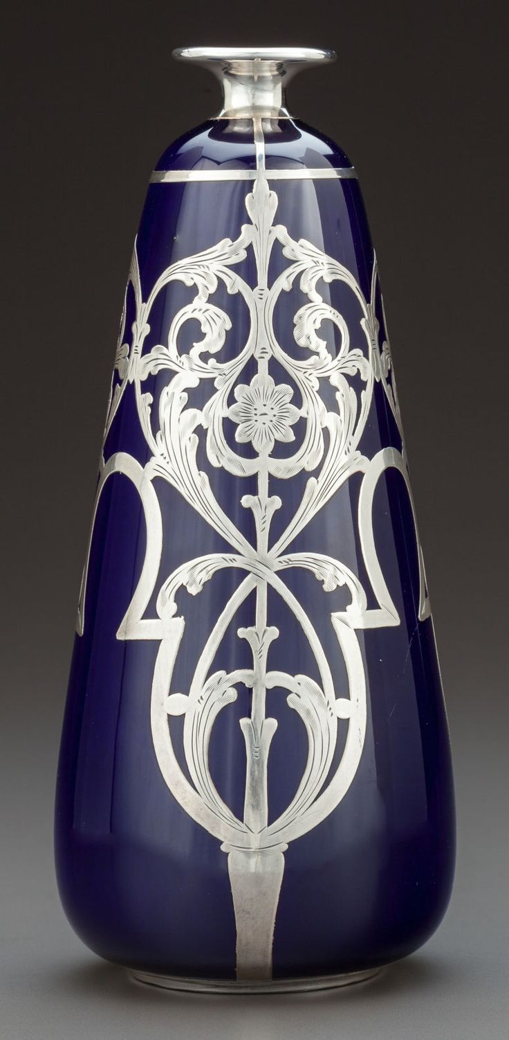 317 best silver overlay images on pinterest art nouveau eamco and lenox silver overlay cobalt porcelain vase trenton new jersey circa reviewsmspy