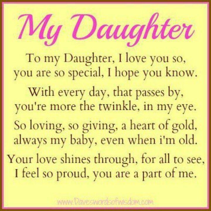 To My Daughter Quotes From Daddy   Google Search. Sprüche EnglischFür ...