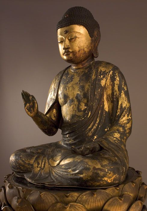 Amida, Buddha of the Western Paradise, 12th century, Lotus Pedestal