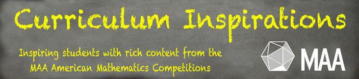 Curriculum Inspirations   Mathematical Association of America