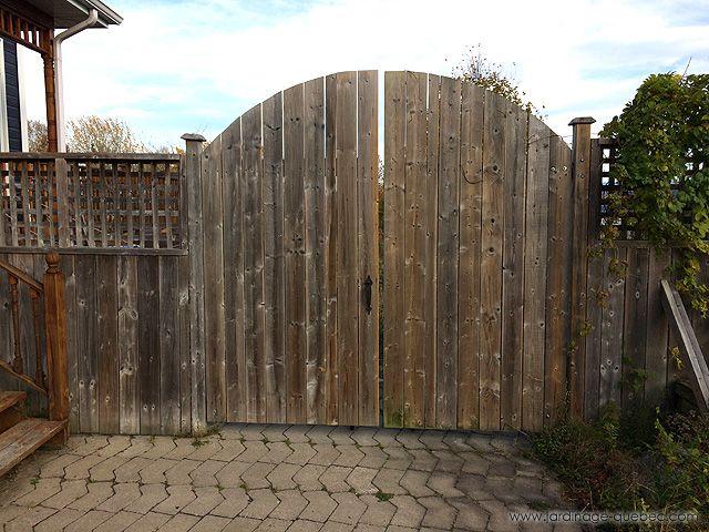 Cloture En Bois Comment Construire Une Porte De Cloture Ou