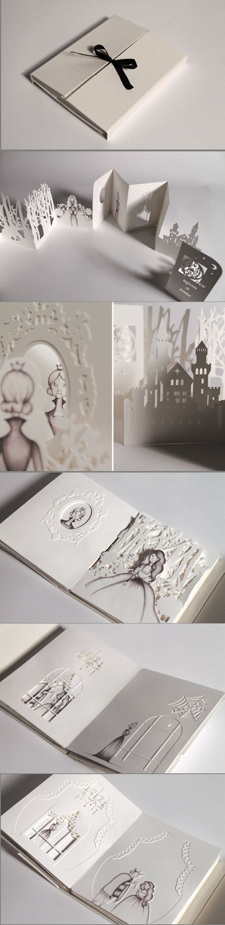 Hiroko Matshushita的剪纸书作品. Love the idea that you can tell a story through this laser cut open out illustration. Would make a great wedding invite. Should I ever get married.