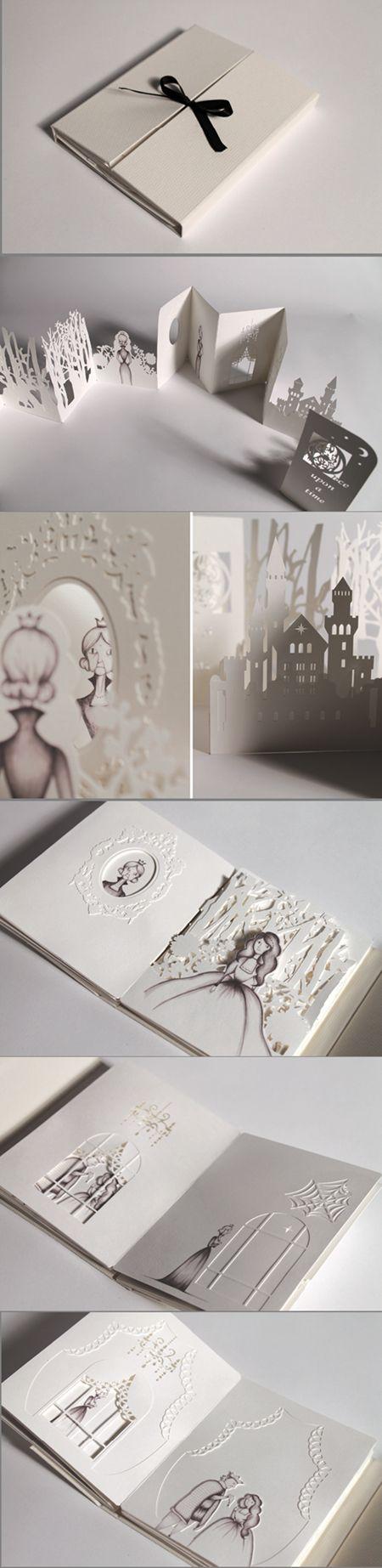 AMAZING Hiroko Matshushita的剪纸书作品
