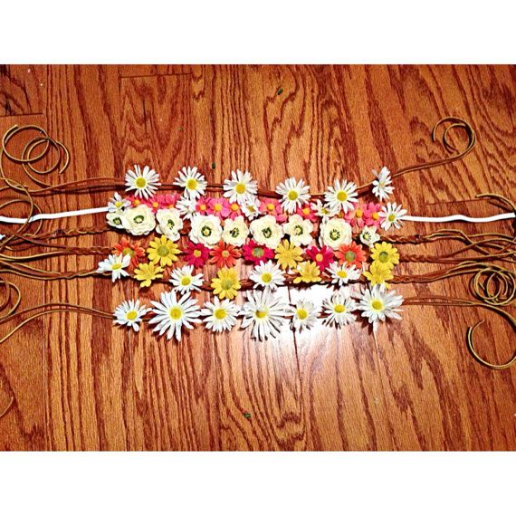Beautiful hand crafted bohemian floral head pieces by LiveLoveFlowers on Etsy....gotta get one!
