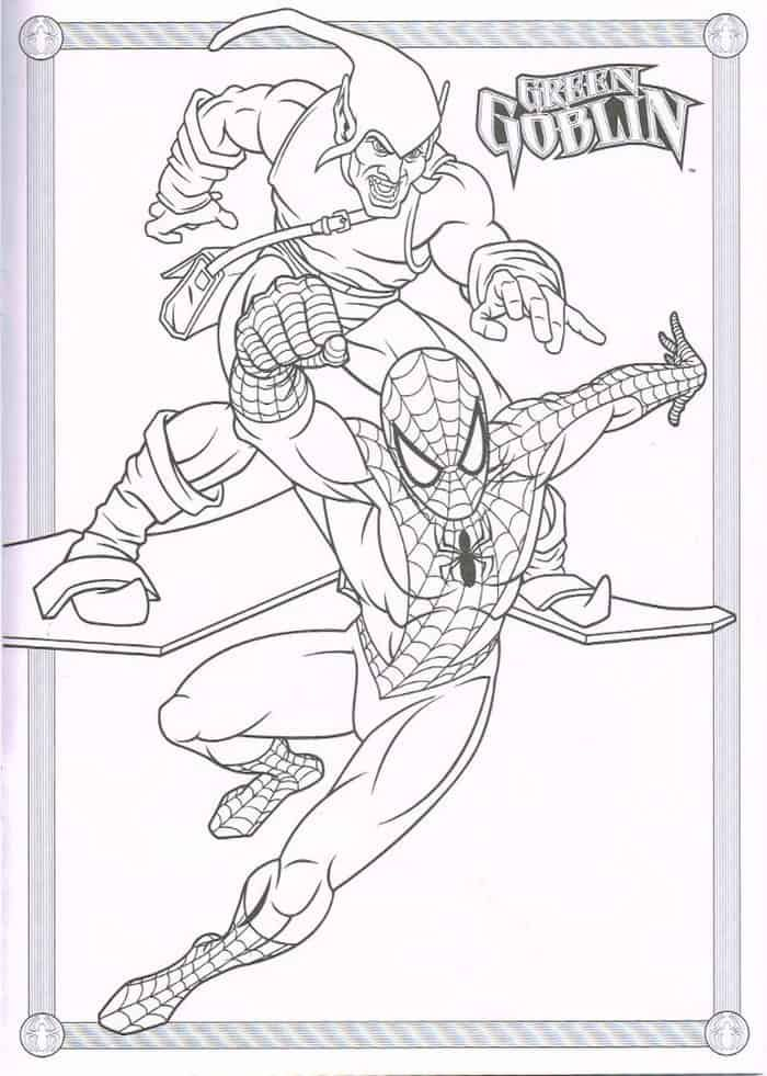 Spiderman Vs Green Goblin Coloring Pages Coloring Pages Goblin
