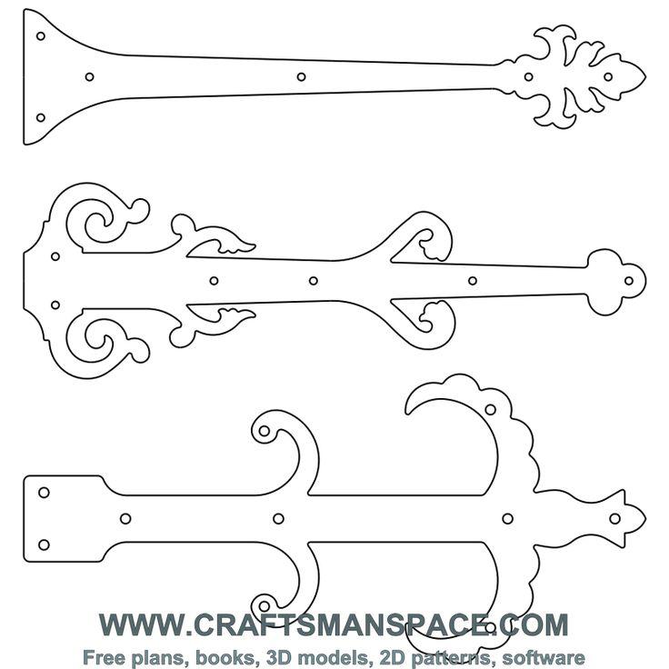 Door hinge plates 4...cut out in vinyl and stick to sliding pocket door...