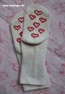 Selbstgemachte Anti-Rutsch-Socken / DIY No Slip Socks
