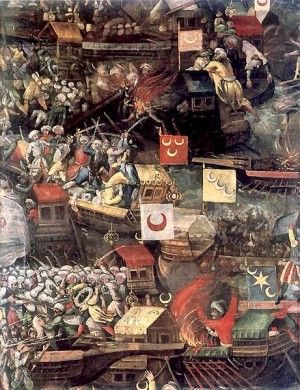 The Battle of Lepanto (1571)  http://www.medievalists.net/2013/07/22/defending-the-christian-faith-with-our-blood-the-battle-of-lepanto-1571-and-the-venetian-eastern-adriatic-impact-of-a-global-conflict-on-the-mediterranean-periphery/  #Battle #Ottomans #Greece