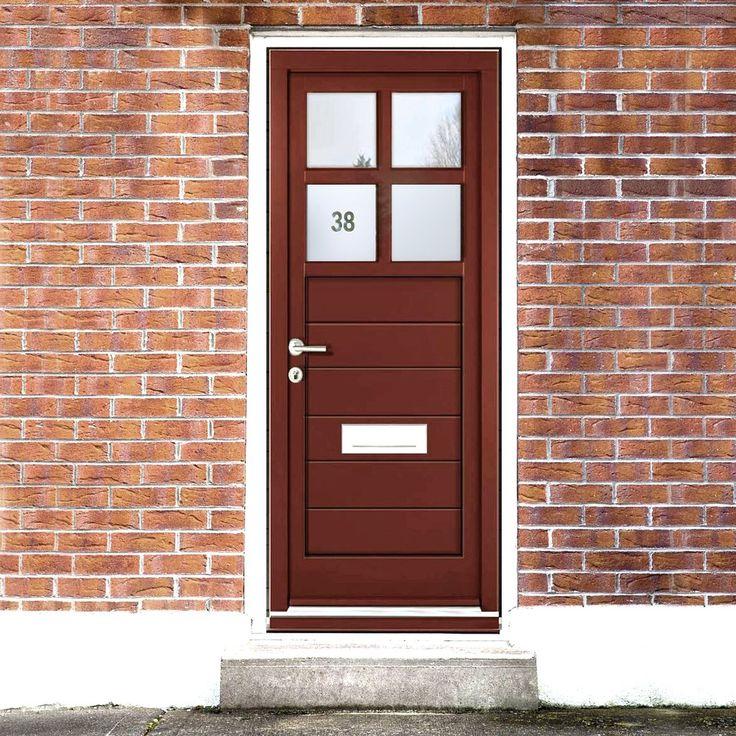 Dale High Performance Ruxley Special Glazed Door & Frame Set - Fully Decorated. #contemproarydoorandframe #modernexternaldoor #externalcontemporarydoor
