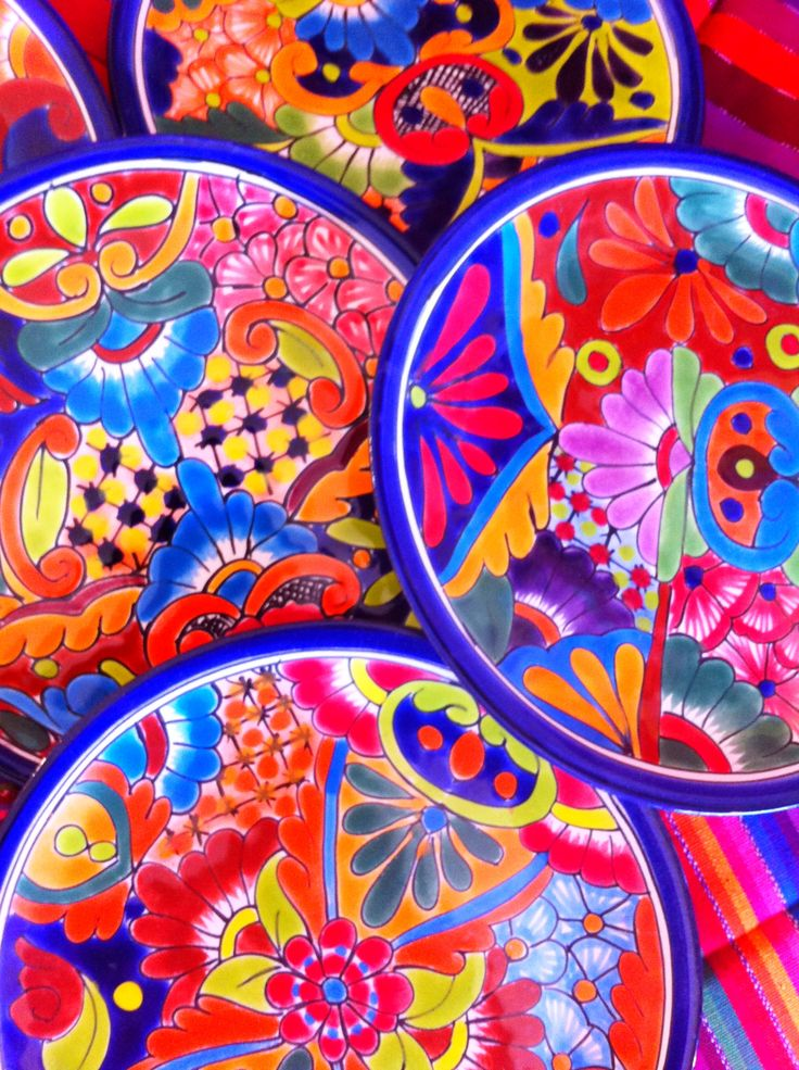 Cluster of Talavera Plates #LaMariposaDallas