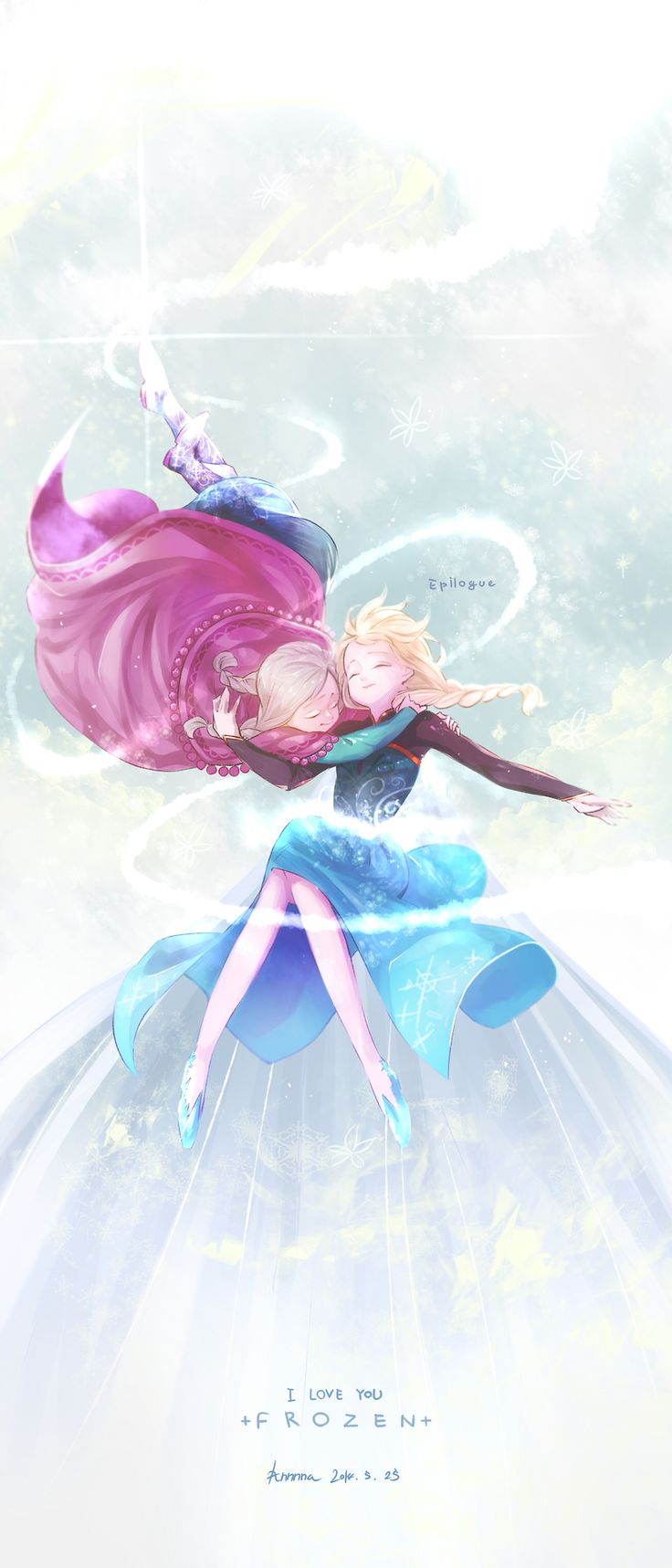 Anna and Elsa | Frozen | Gangsun [pixiv]