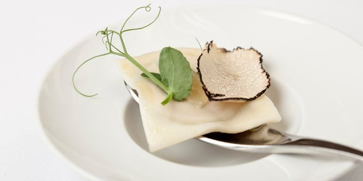Award-winning chef Steve Drake prepares an elegant starter recipe of truffle ravioli. This ravioli recipe is simple to follow and will make an exciting starter