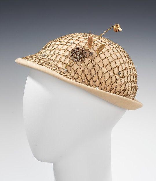 Mr. John, Inc. | Dinner hat circa 1950s | American | The Met
