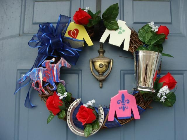Kentucky Derby Themed Wreath