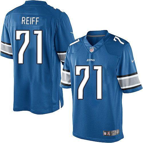men nike detroit lions 71 riley reiff limited light blue team color nfl jersey sale