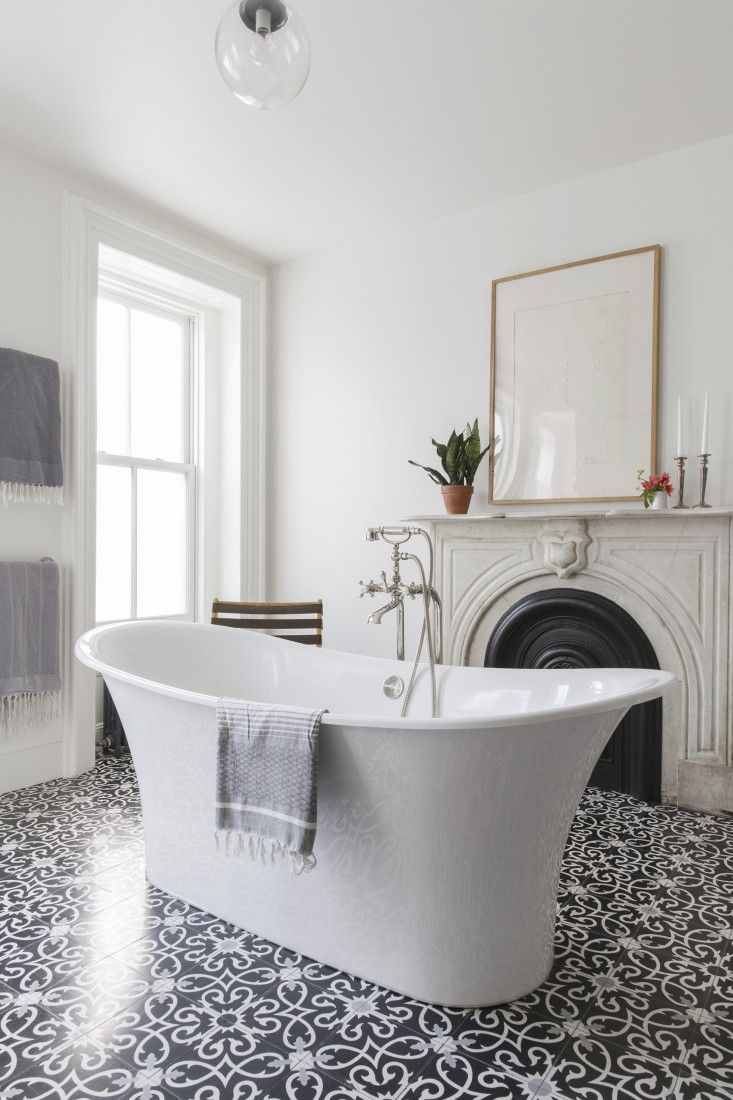 Brooklyn master bath in a townhouse remodel by Elizabeth Roberts/Ensemble Architecture | Remodelista