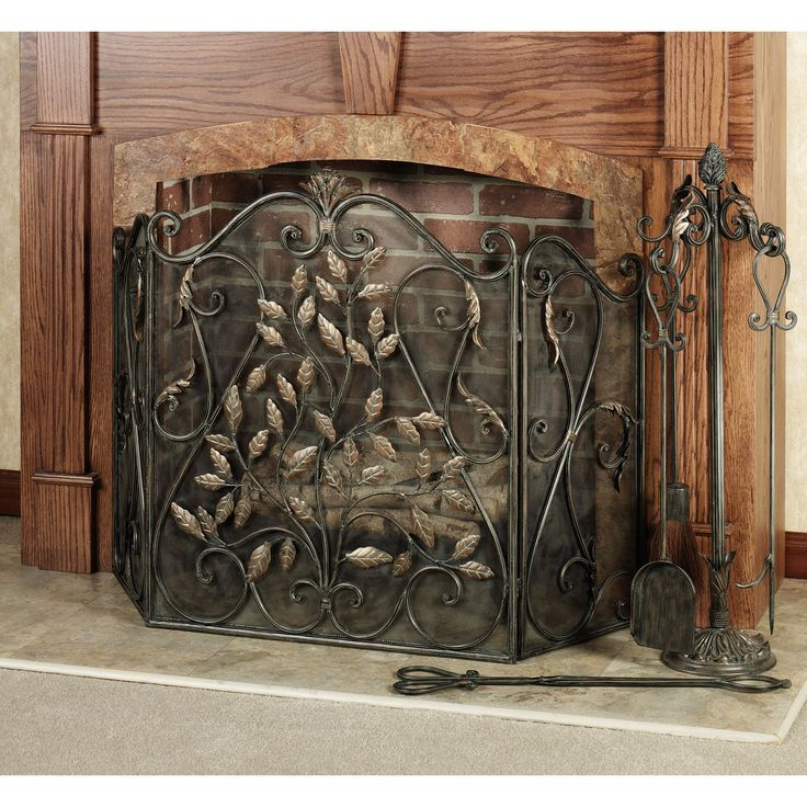 Teagan Leaves Fireplace ScreenBest 25  Decorative fireplace screens ideas on Pinterest   Rustic  . Wooden Fireplace Screens. Home Design Ideas