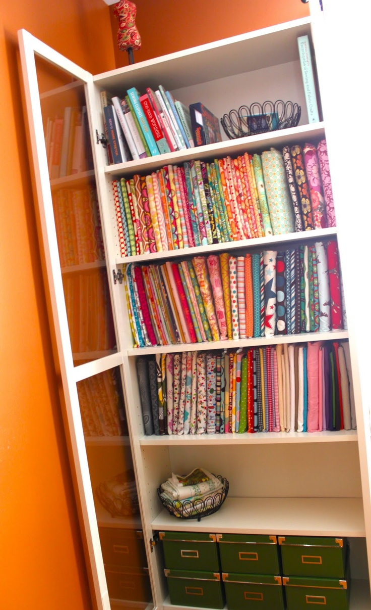 174 best fabric storage ideas organization images on for Bolt storage ideas