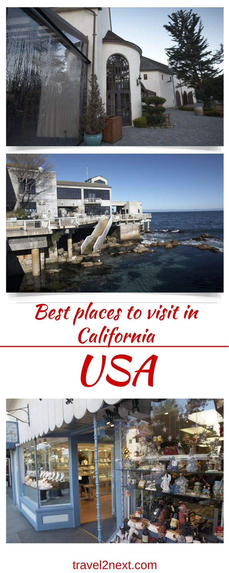 Best places to visit in California USA. A road trip along the Pacific Coast Highway between San Francisco and Los Angeles is one of California's most scenic drives and reveals some of the best places to visit in California.