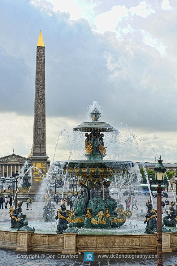 Place de la Concorde in Paris France.
