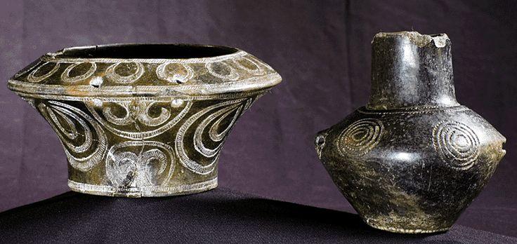 Ceramics Cultura Ozieri 4000 A.C. (B.C.) Sardegna, Sardinia, Museo Sanna Sassari.
