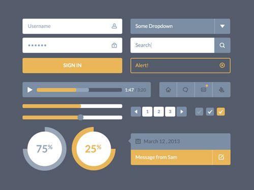 #Flat #design #interface