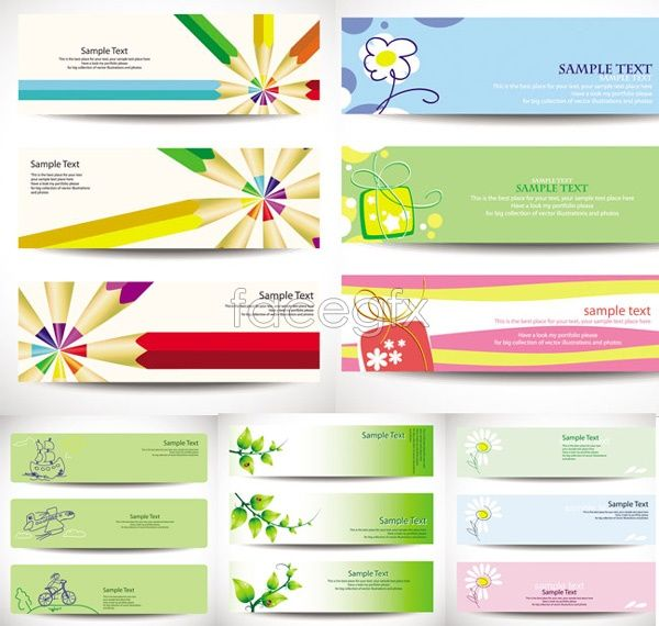 Fresh banner design Vector