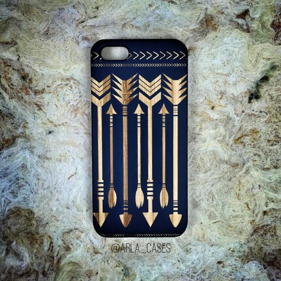 Arrow Phone Case Wooden Phone Case Wood iPhone 7 por ArlaLaserWorks