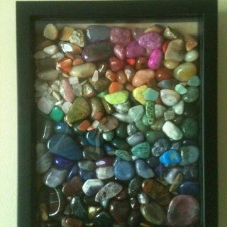 Rock Collection Display | Pretty way to display rock collection | D.I.Y.