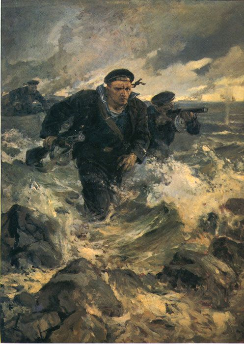 Serov Paintings-Baltic Landing, 1942