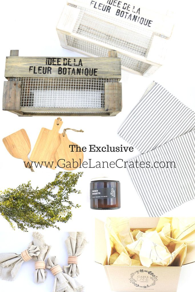 11 best images about gable lane crates on pinterest for Home subscription box