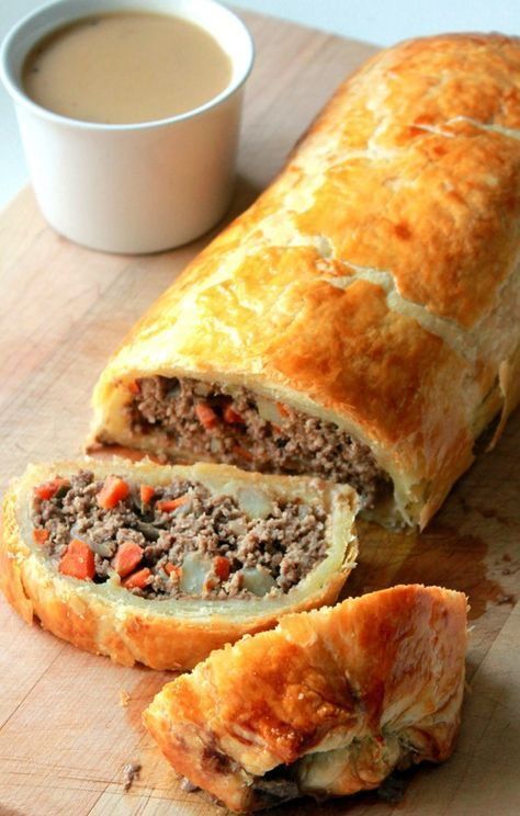 TRIED - actually pretty darn good. Pleasantly surprised and will make again! Minced Beef Wellington