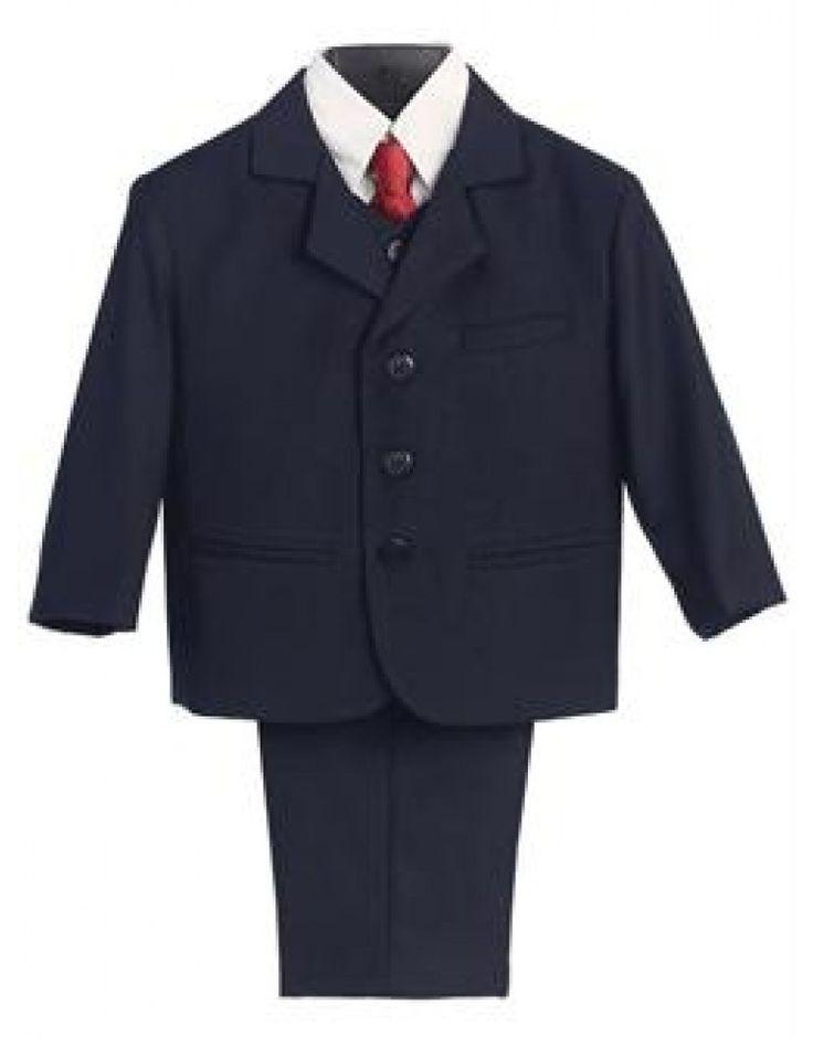 Mørk blå jakkesæt til drenge - str. 6 md til 3 år