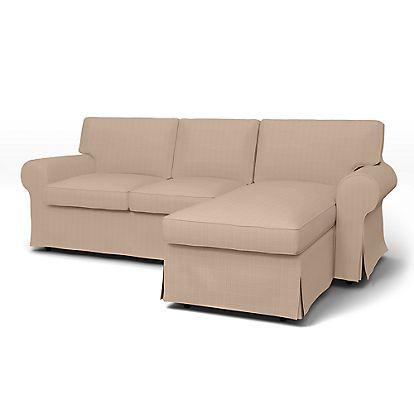 Sofa Covers Ektorp Seater sofa with chaise longue cover Housses de canap s Bemz