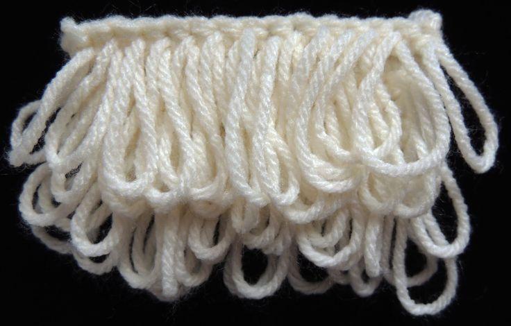 Crochet : Punto Bucle ༺✿ƬⱤღ https://www.pinterest.com/teretegui/✿༻