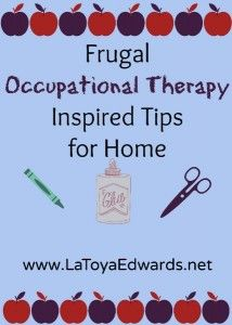 Heather shares some frugal ways to do occupational therapy at home with your special needs child.