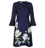 Blue Magnolia Print Dress | Occasion Dresses | Dresses | Hobbs