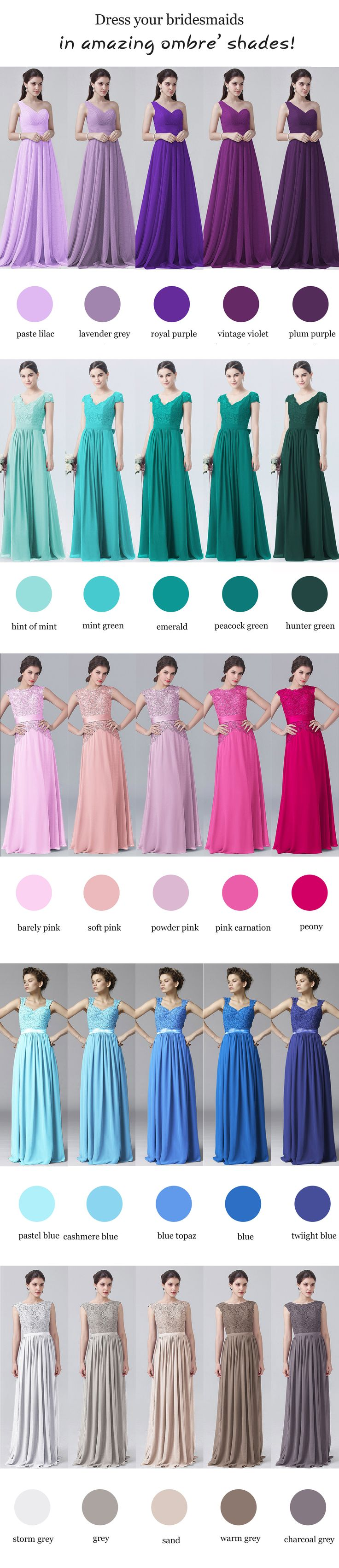 Bridesmaids Dresses Spring 2017 Colors – fashion dresses