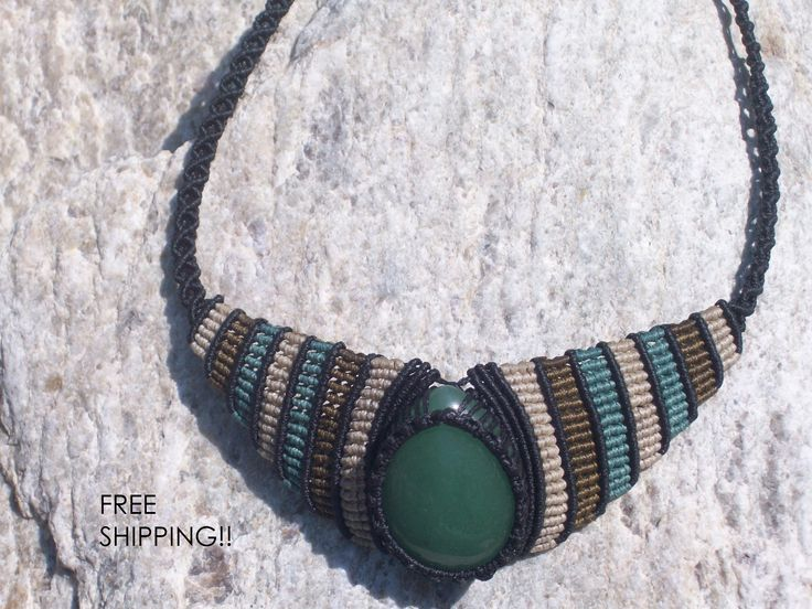 FREE SHIPPING Green stone necklace - aventurine necklace, women gift, adjustable, limited edition, chakra healing, yoga, chakra balancing!!