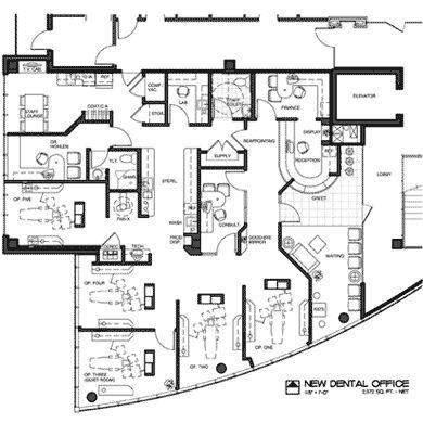 office design floor plans. floor plan 2012 dental office design competition wells fargo practice finance plans